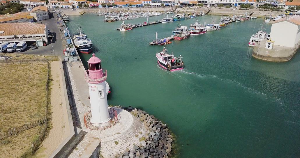 Plan drone du port