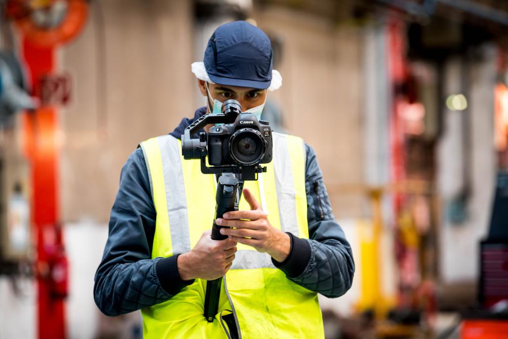 Captation d'images tournage